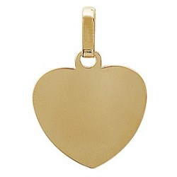Coeur plaqué or gravé
