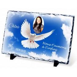 Plaque Funéraire colombe