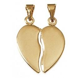 Pendentif Double Coeur