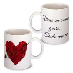 """Mug """"Viens on s'aime"""""""