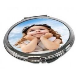 Miroir de poche ovale personnalisé
