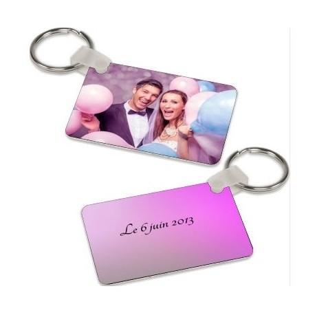 Porte clé Photo Aluminium Personnalisable