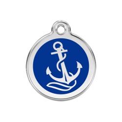 Médaille Chien Red Dingo Ancre Bleu