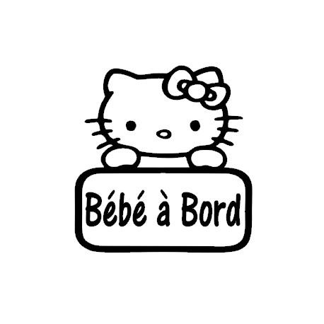 Sticker bb à bord kitty