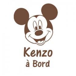 Sticker bb à bord Mickey avec prenom