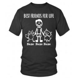 """Tee shirt personnalisé homme """"2 Amis pour la Vie"""""""