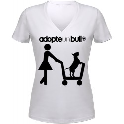 """Tee shirt Femme """"Adopte un Bull"""""""